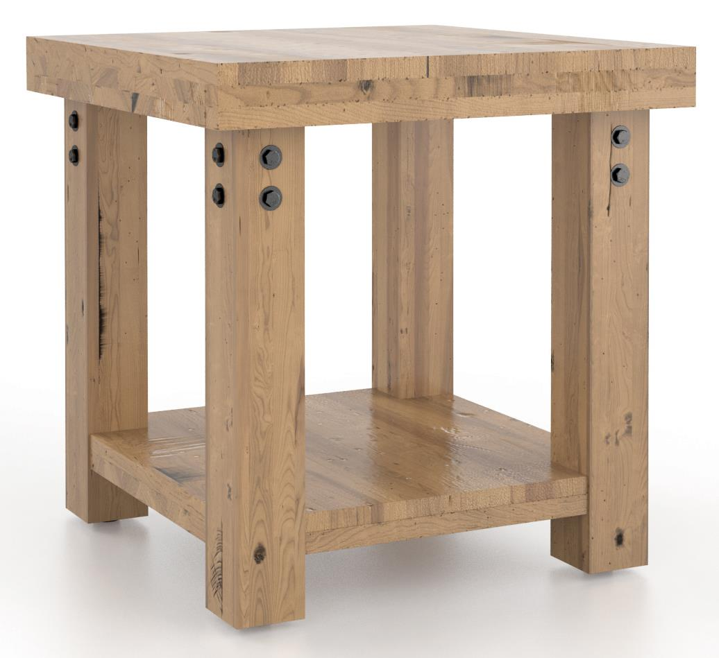 Loft - Living <b>Customizable</b> Square End Table by Canadel at Saugerties Furniture Mart