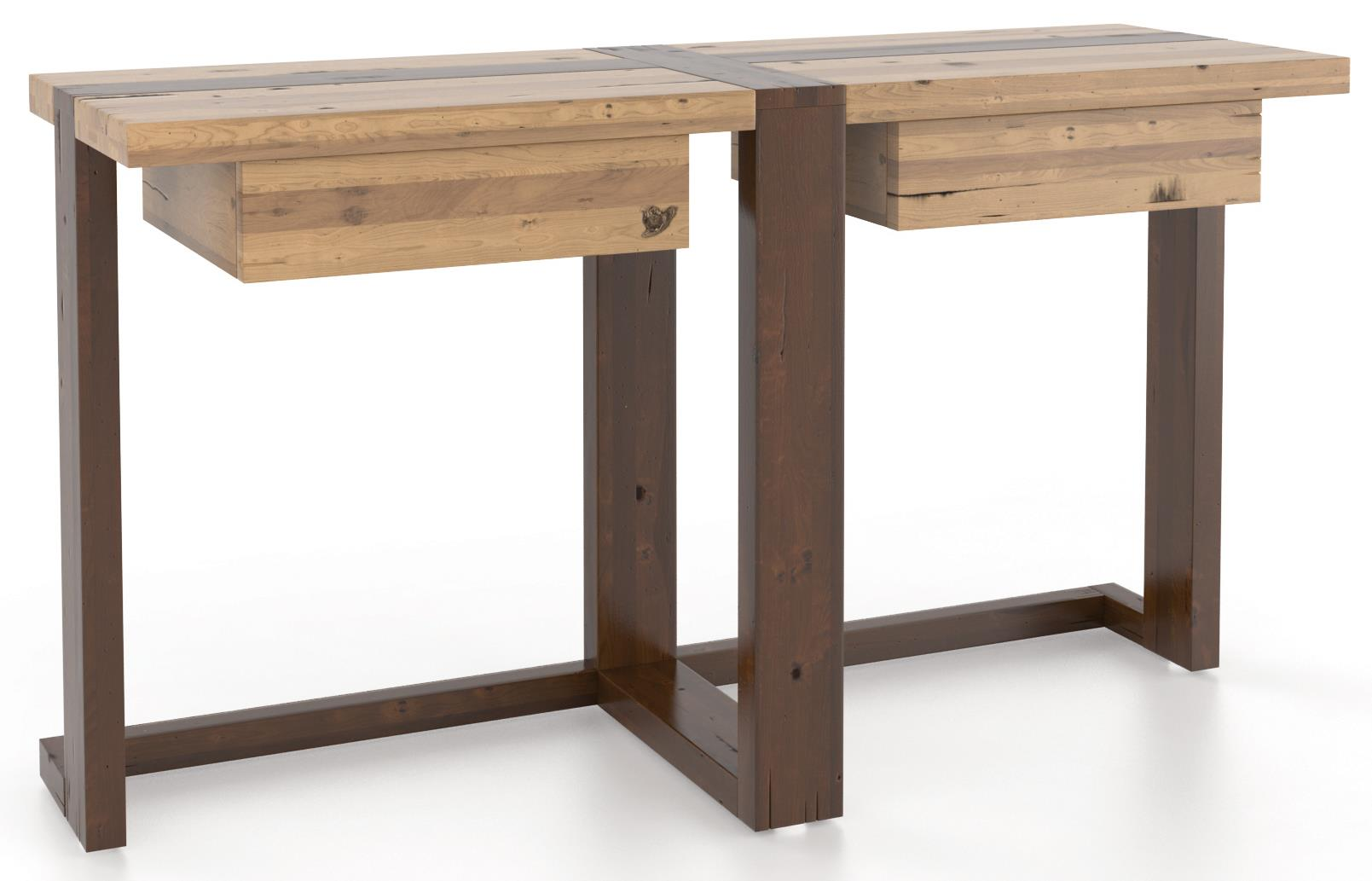 Loft - Living <b>Customizable</b> Sofa Table by Canadel at Saugerties Furniture Mart