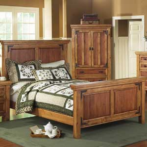 Canyon Rustic Panel Bed