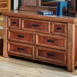 Canyon Rustic 7 Drawer Dresser