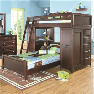 Canyon Ivy League Twin Full Loft Bed With Stairway And