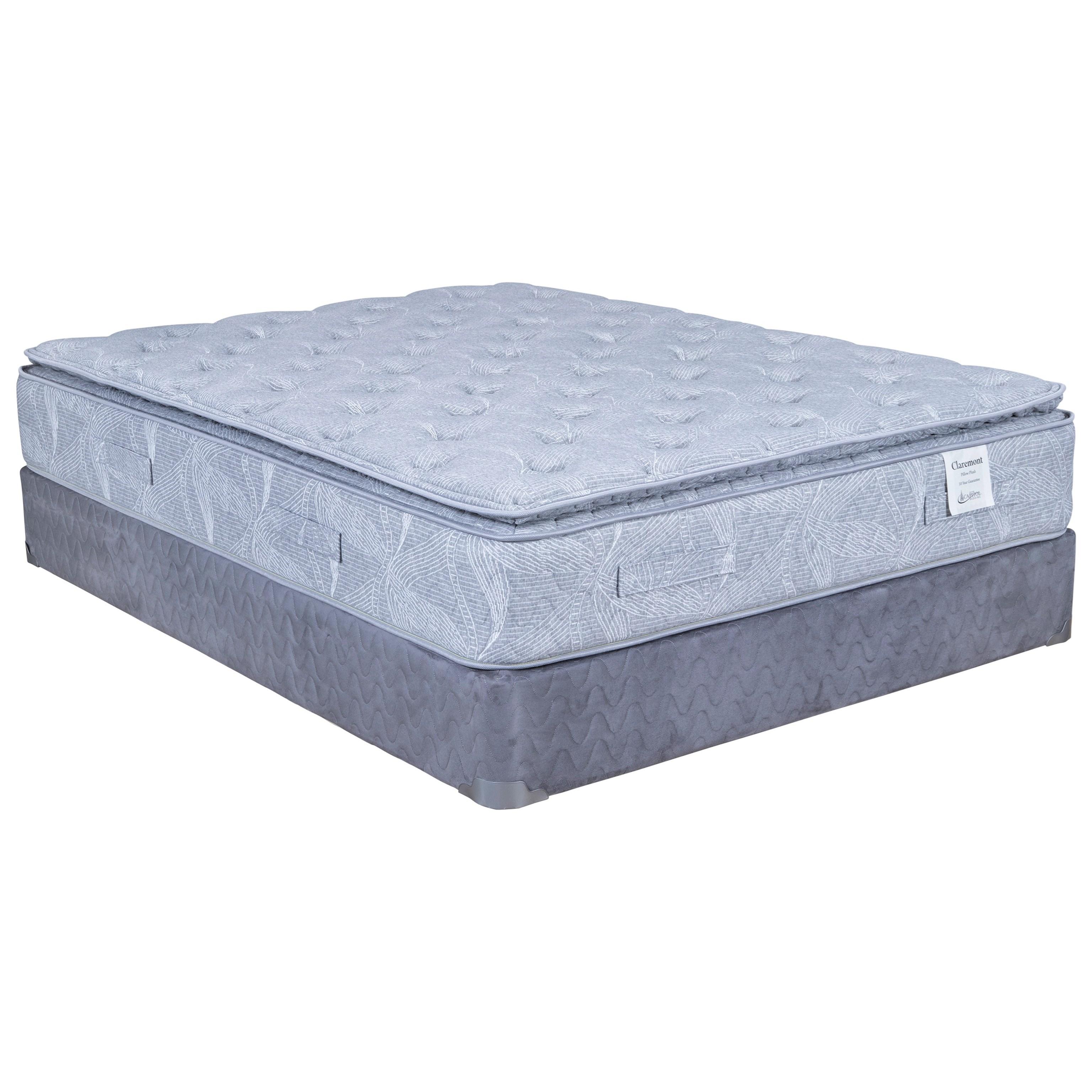 Claremont II Pillow Top Queen Pillow Top Mattress Set by Capitol Bedding at Van Hill Furniture