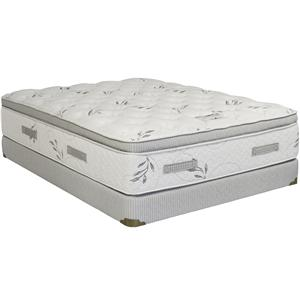 King Pillow Top Mattress and True Flex Low Profile Foundation