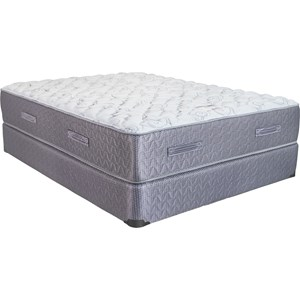 King Cushion Firm Mattress and Low Profile Semi-Flex Foundation