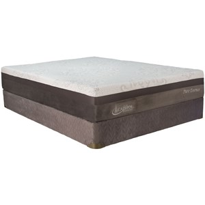 "King 11"" Plush Gel Memory Foam Mattress and Semi Flex 61 Foundation"