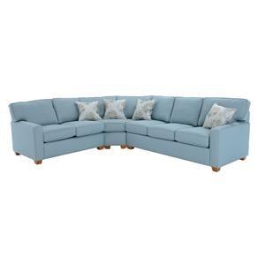 Three Piece Sectional Sofa with RAF Sleeper
