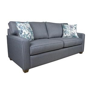 Contemporary Queen Sleeper Sofa with Cozy Mattress
