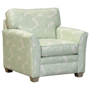 Casual Flared Arm Chair