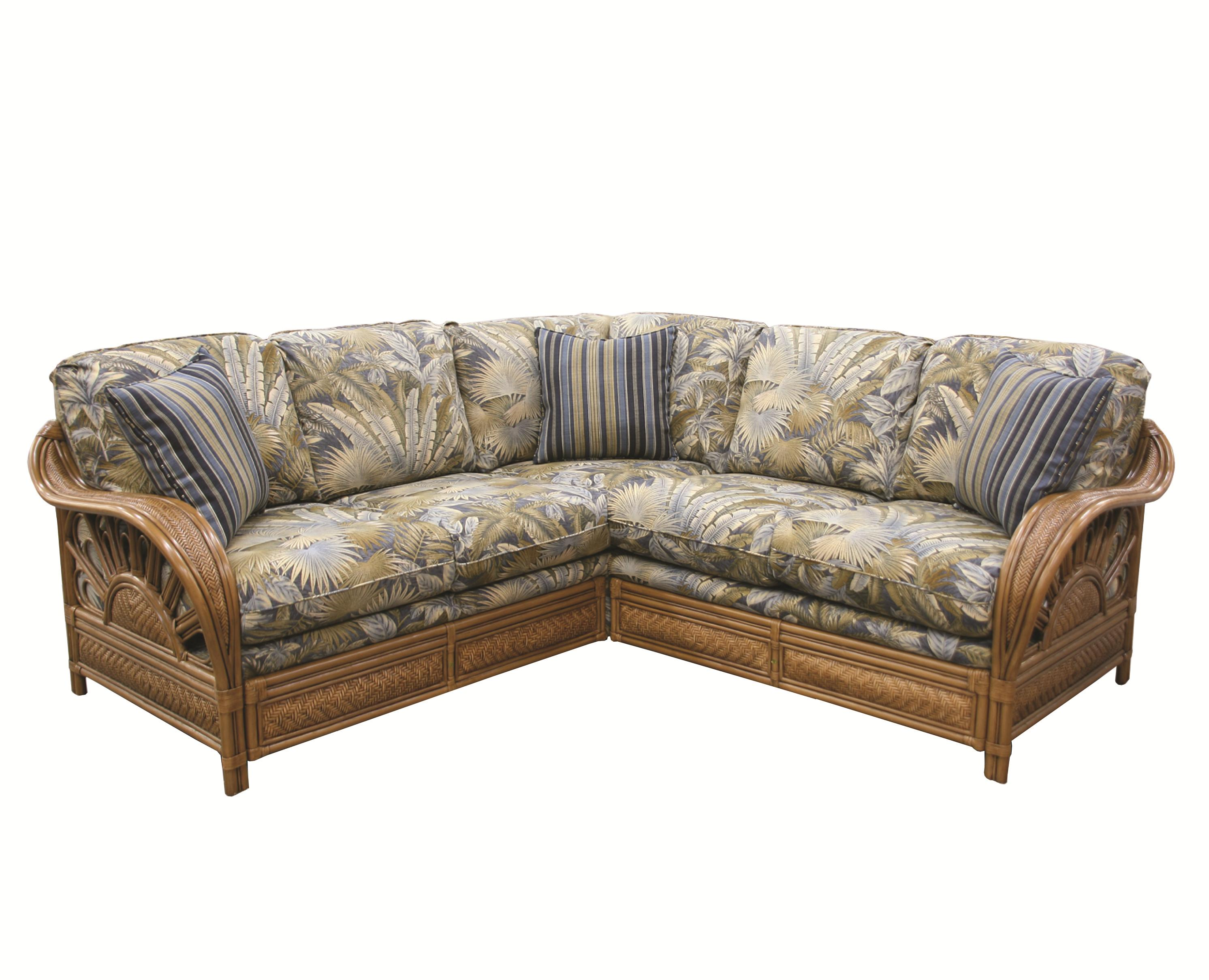 321 Collection Wicker Rattan Sectional by Capris Furniture at Esprit Decor Home Furnishings