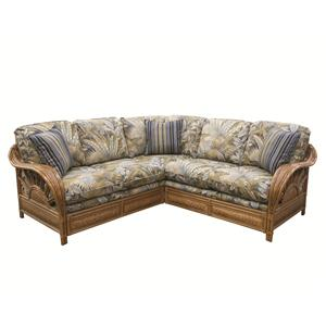 Wicker Rattan Framed Sectional Sofa
