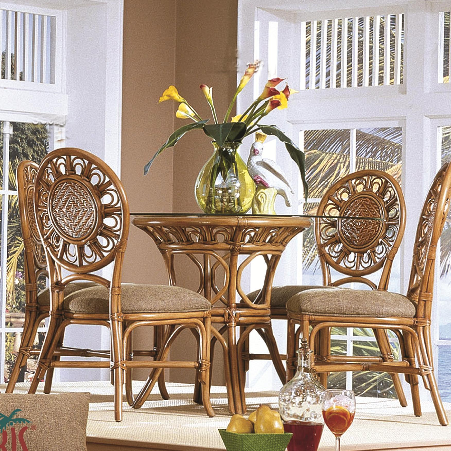 321 Collection Glass Top Table With Four Side Chairs by Capris Furniture at Esprit Decor Home Furnishings