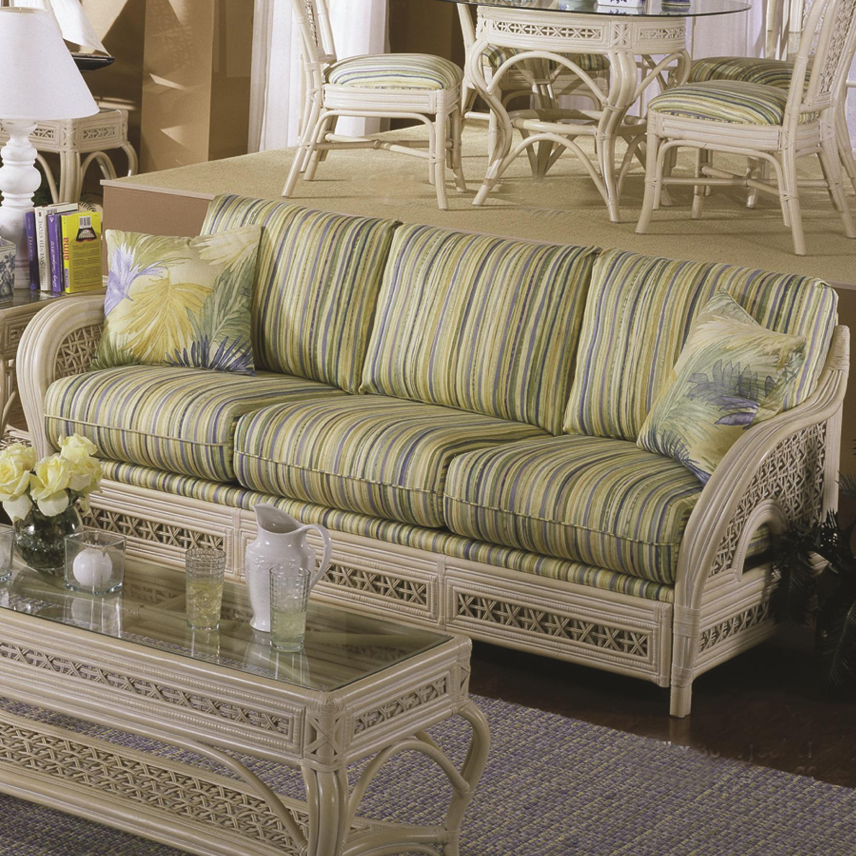 341 Collection Wicker Sofa by Capris Furniture at Esprit Decor Home Furnishings