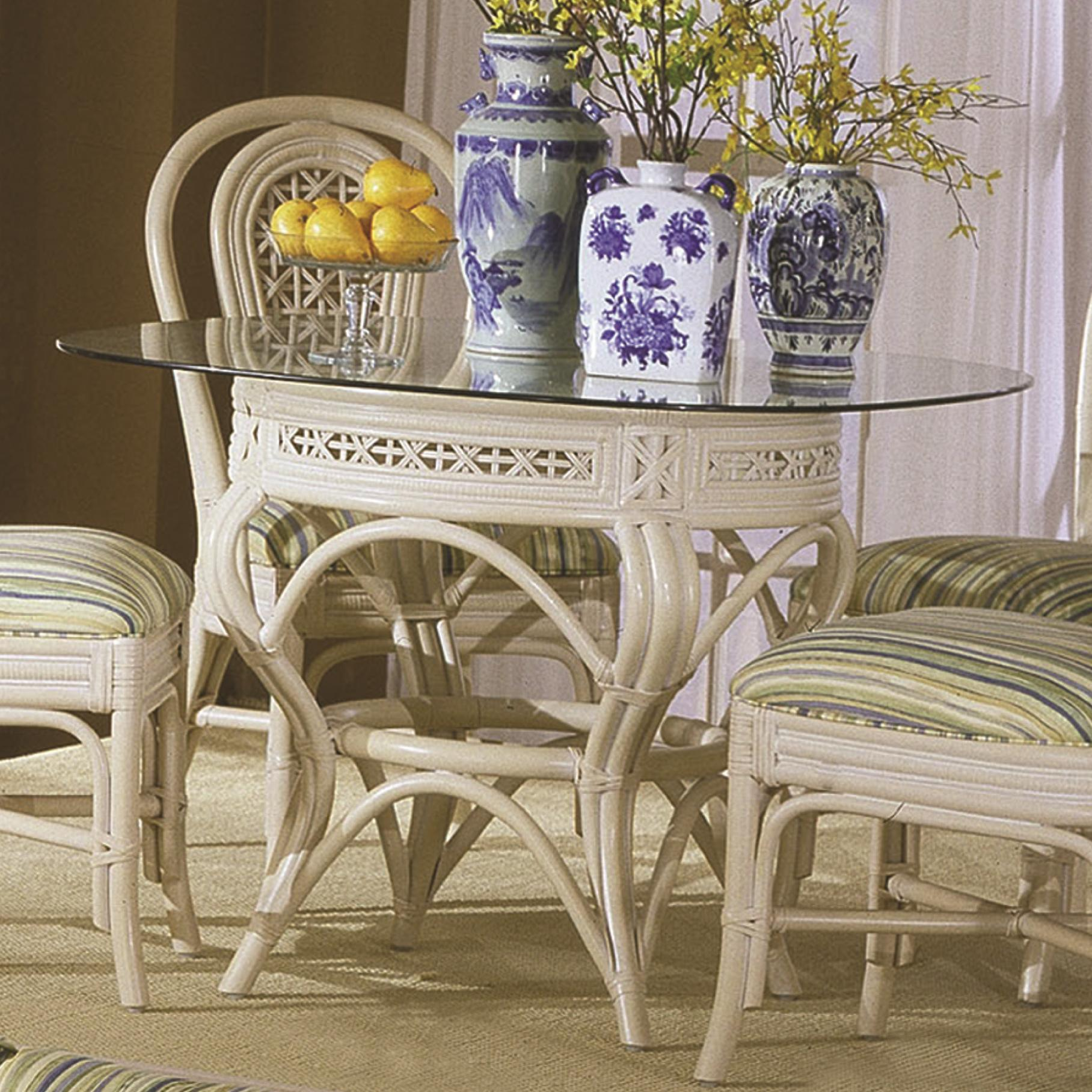 341 Collection Wicker Rattan Kitchen Table by Capris Furniture at Esprit Decor Home Furnishings