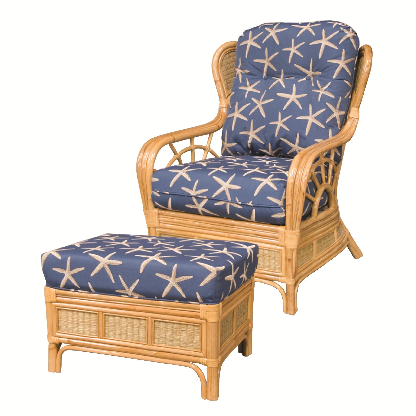381 Collection Wicker Rattan Chair and Ottoman by Capris Furniture at Esprit Decor Home Furnishings