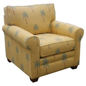 Casual Rolled Arm Chair