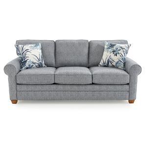 Casual Rolled Arm Sleeper Sofa