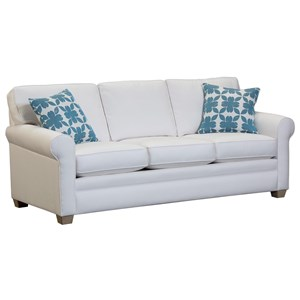 Casual Rolled Arm Sleeper Sofa