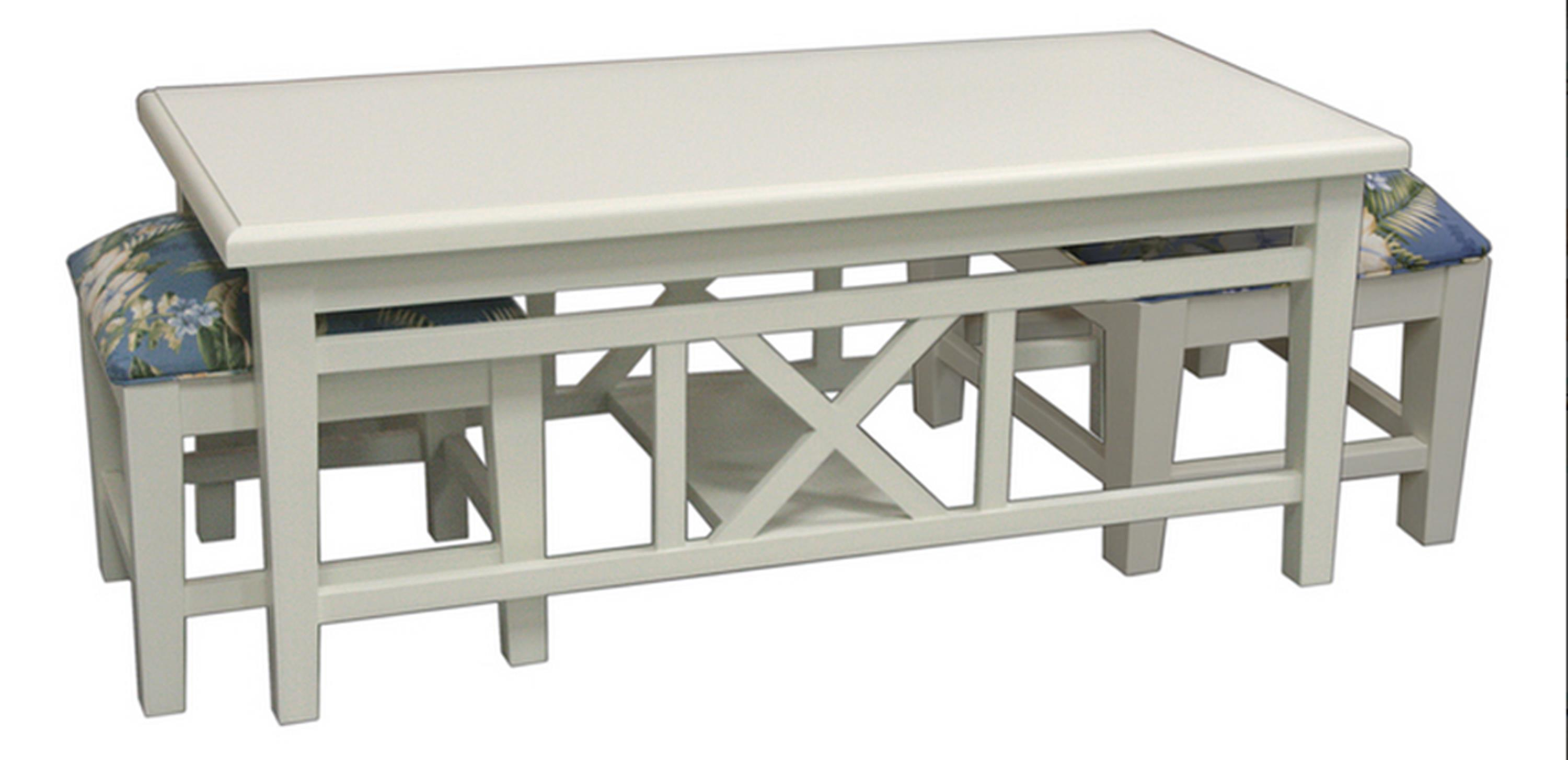 747 Hassock Coffee Table with Benches by Capris Furniture at Esprit Decor Home Furnishings