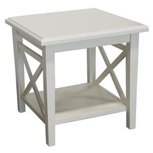 Cottage White Lamp Table