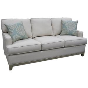 Stationary Sofa w/ Accent Pillows