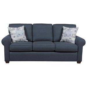 Casual Queen-Size Sleeper Sofa