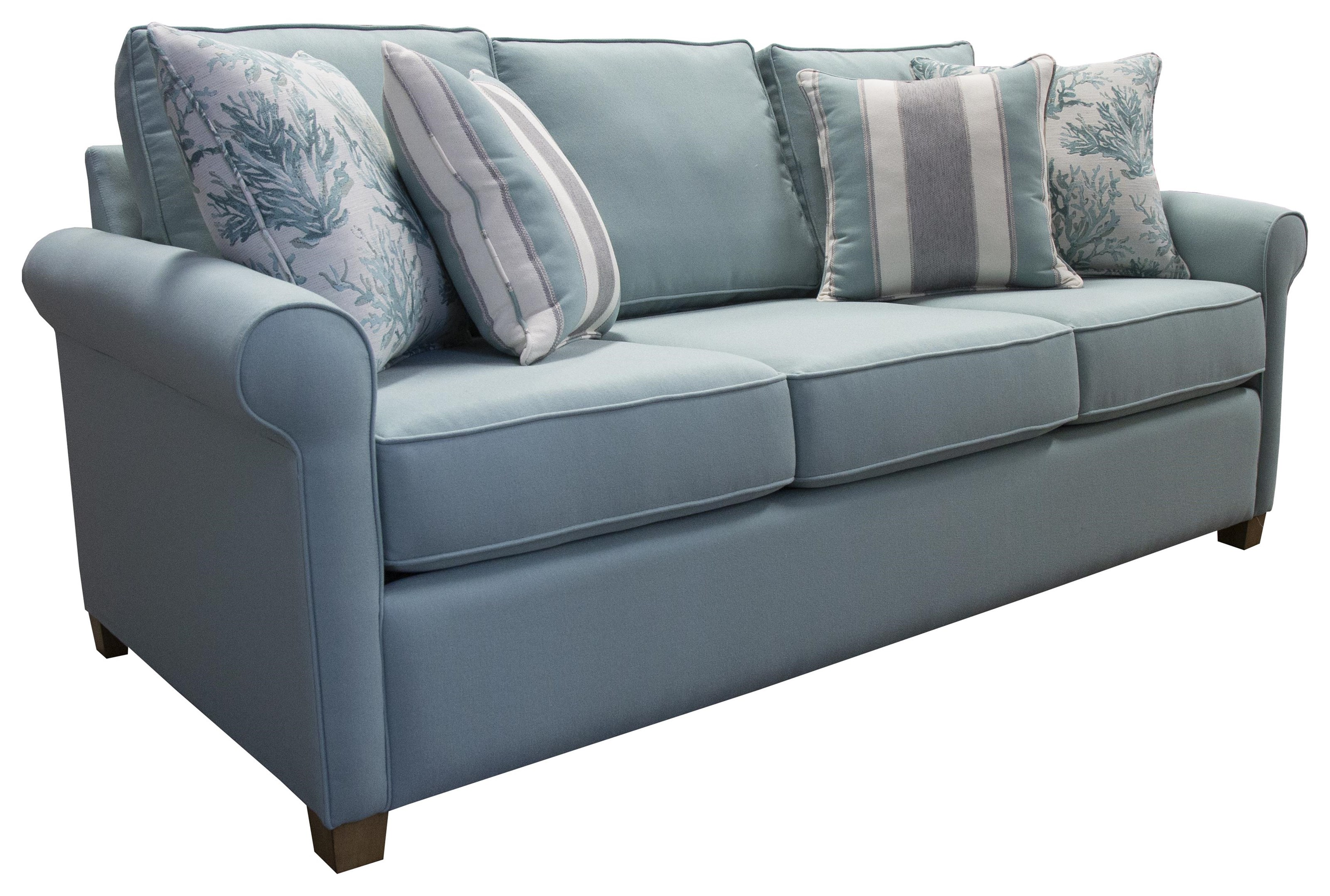 Capris 411 Sofa with Ball Arm by Capris Furniture at Baer's Furniture