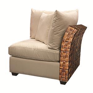 Wicker Rattan Armless Corner Chair