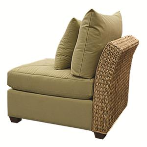 Wicker Rattan Armless Chair