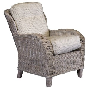 Weathered Grey Wicker Accent Chair