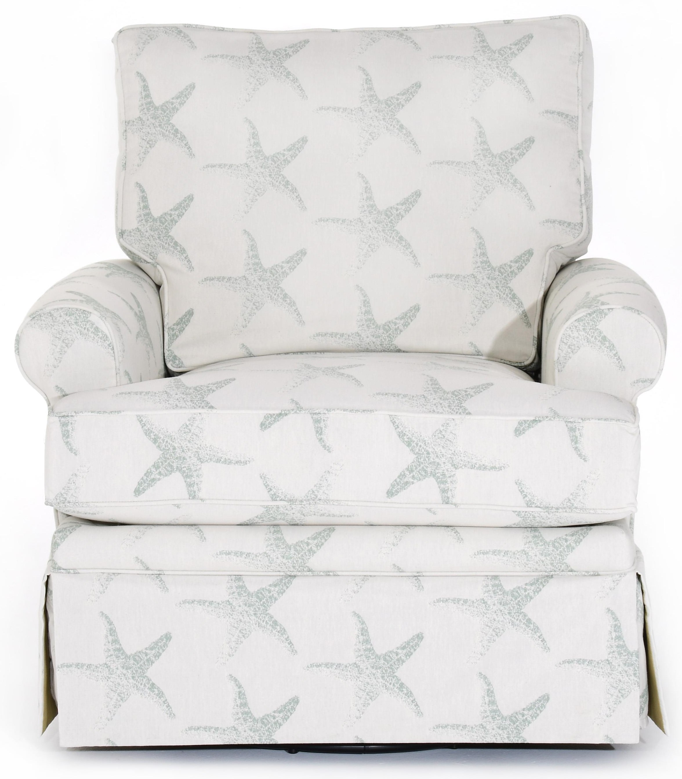 Swivel Chair with Skirted Base