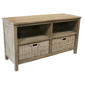 Television Stand w/ 2 Basket Shelves