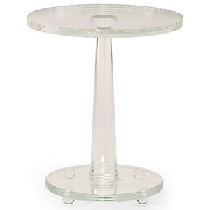 The Sophisticated Side Table in Crystal Glass