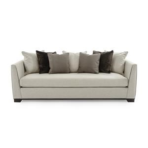 Moderne Tuxedo Sofa with Channel Stitching and Scatterback Pillows