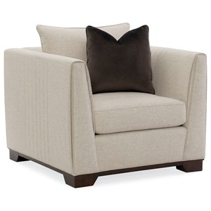 Moderne Chair with Channel Stitching