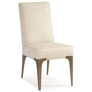 "Contemporary ""Cold Feet"" Upholstered Chair with Metal Legs"