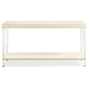 "The ""Eye to Eye"" Console Table with Acrylic Legs"