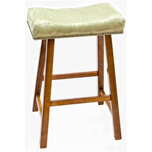 """Carolina Chair and Table Counter Height Dining 24"""" Valencia Stool with Upholstered Seat"""