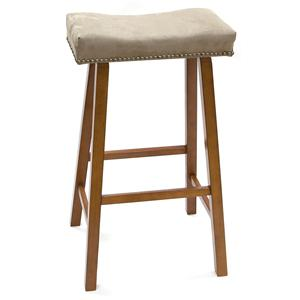 """Carolina Chair and Table Counter Height Dining 30"""" Valencia Stool with Upholstered Seat"""