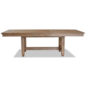 Relaxed Vintage Rectangular Dining Table with Leaf