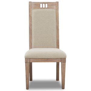 Relaxed Vintage Upholstered Dining Side Chair