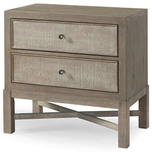Transitional Nightstand with AC Outlets