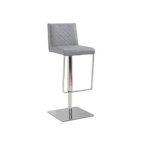 Adjustable Height Bar Stool with Stainless Steel Base