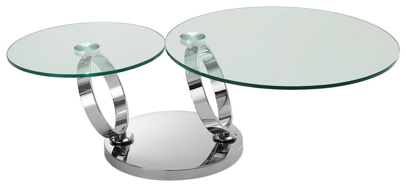 Satellite Glass Cocktail Table by Casabianca at Baer's Furniture