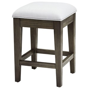 Café Stool with Upholstered Seat