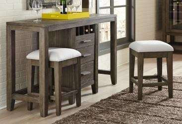 Brookdale Brookdale 3-Piece Console with Stools at Morris Home