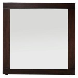 Modern Espresso Portrait Mirror