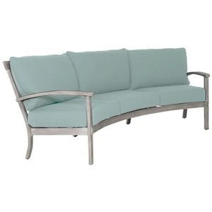 Crescent Sofa with 2 - 17 inch Throw Pillows