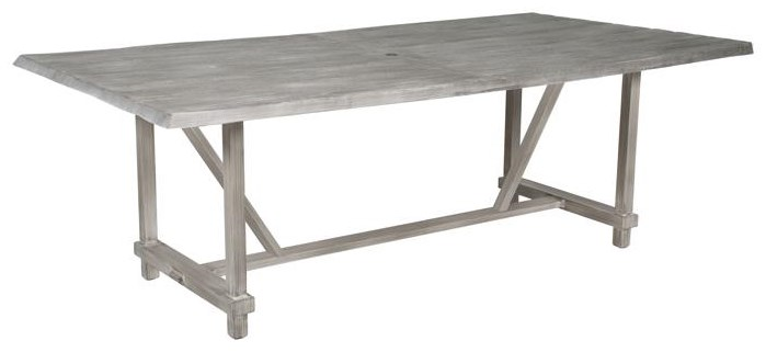 Antler Hill 84 inch Rectagular Table W/ Umbrella Hole by Castelle by Pride Family Brands at Johnny Janosik