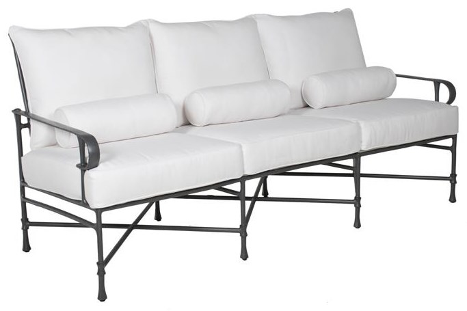 Bordeaux BORDEAUX CUSHIONED SOFA by Castelle by Pride Family Brands at Johnny Janosik