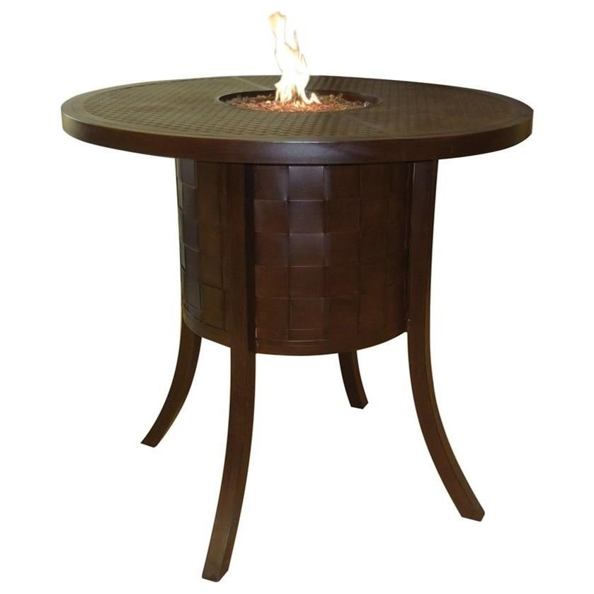 """Classical Firepits 49"""" Round Classical Bar Table with Firepit a by Castelle by Pride Family Brands at Baer's Furniture"""